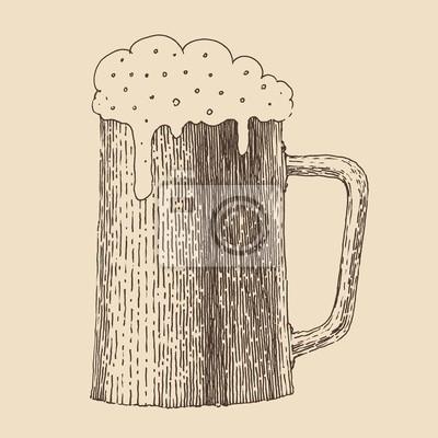 Pint Bier im Vintage-Stil Gravur