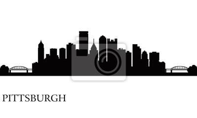 Pittsburgh Skyline Silhouette Hintergrund