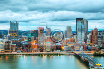 Pittsburgh Stadtbild mit dem Ohio Fluss