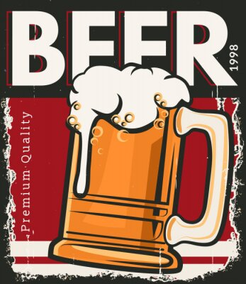 Poster Plakat Retro Bier