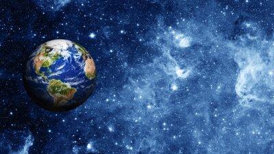 Poster Planet Erde im Weltraum