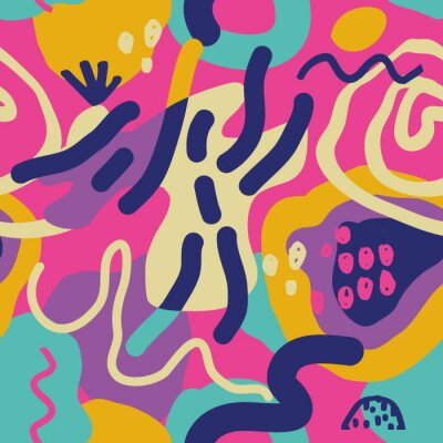 Playful exotic abstract pattern.