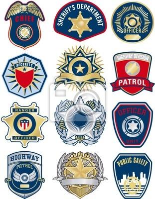 Polizei Abzeichen Vektor