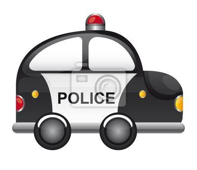 Poster Polizeiauto