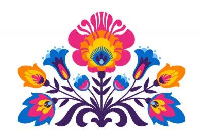 Poster Polnische Volksinspirierte Blumen