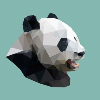 Poster polygonale panda, Polygon abstrakte geometrische Tier, Vektorillus