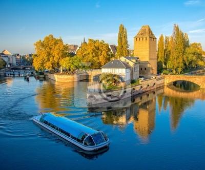 Ponts Couverts à Strasbourg au coucher de soleil