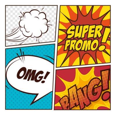 Poster Pop-Art komische Luftblasen entwerfen
