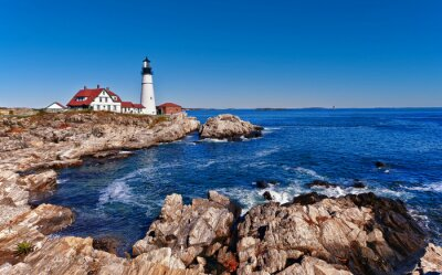 Poster Portland Head Leuchtturm in Cape Elizabeth, Maine