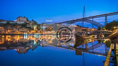 Porto mit der Dom Luiz Brücke, Portugal