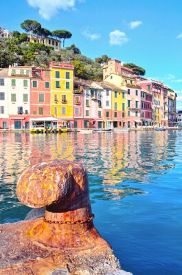 Poster Portofino, Italien (HDR-Bild)