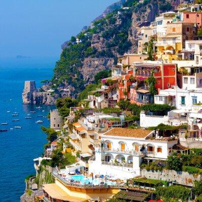 Poster Positano, Italien. Amalfiküste