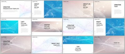 Poster Presentation design vector templates, multipurpose template for presentation slide, flyer, brochure cover, infographic report presentation. Wave flow background for science or medical concept design.