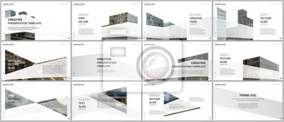 Poster Presentations design, portfolio vector templates with architecture design. Abstract modern architectural background. Multipurpose template for presentation slide, flyer leaflet, brochure cover, report