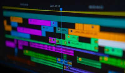 Poster Professional video editing timeline. video editing concept.