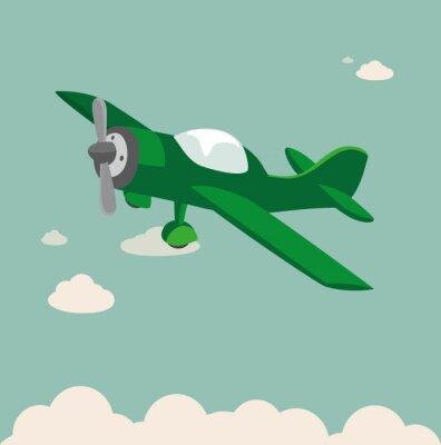 Poster Propellerflugzeug Flugzeug Vektor