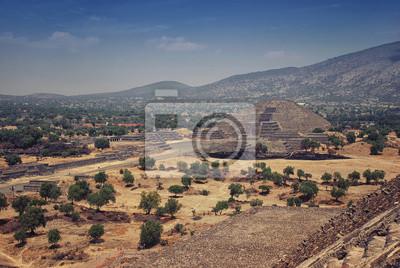 Pyramide des Mondes, Teotihuacan, Mexiko, Bergen