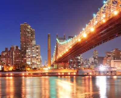 Poster Queensboro Bridge und Manhattan
