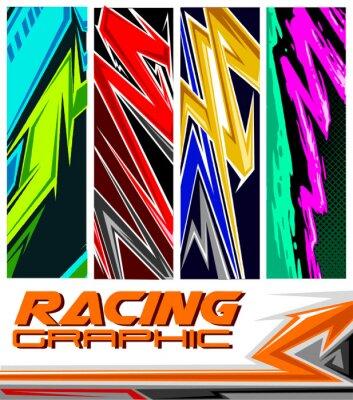 Poster racing jersey pattern
