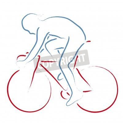 Poster Radfahrer