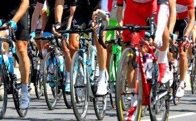 Poster Radfahrer während eines Zyklus Straßenrennen in Europa