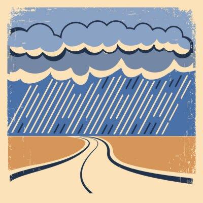 Poster Rain Vintage poster.