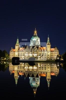Rathaus Hannover bei Nacht