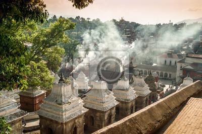 Rauch aus dem Funeral Gath in Pashupatinath