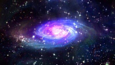 Poster Raum blaue Galaxie in den Raum.