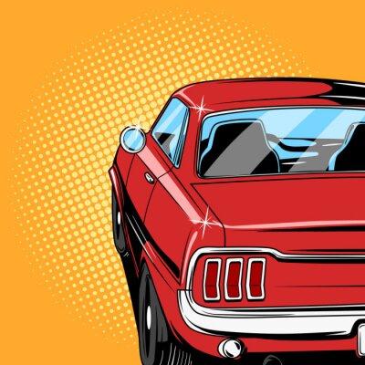 Poster Red Auto Comic-Buch-Stil Vektor