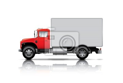 Poster Red Box Lkw