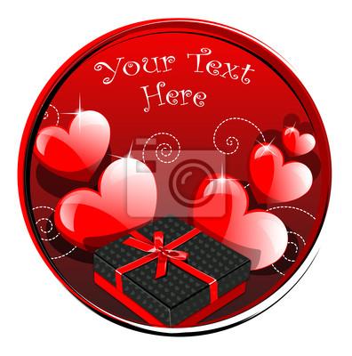 Poster Red Hearts für Valantaine Day