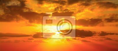 Poster red sky in Alghero