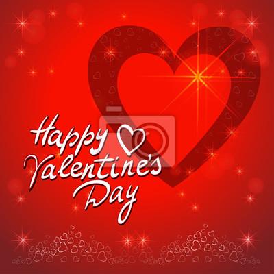 Poster Red valentines Tag Hintergrund