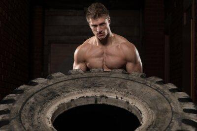 Poster Reifen Training Übung