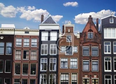 Reihe von Häusern und Gebäuden in Amsterdam, Niederlande