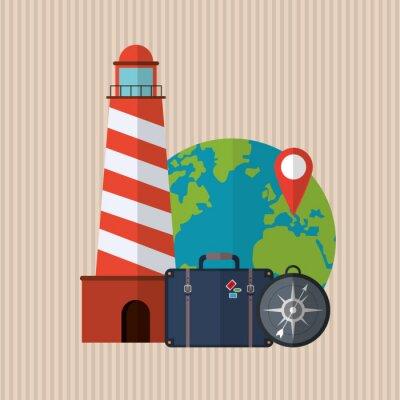 Poster Reise-Icon-Design