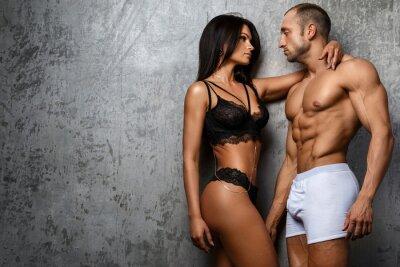Poster Reizvolle Paare in der Unterwäsche