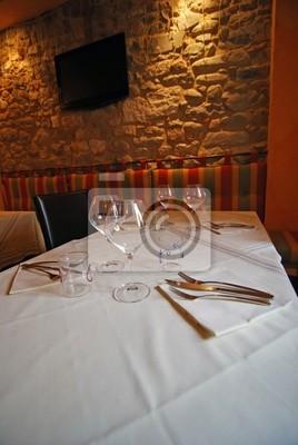 Restaurant interior, Barga, Italien