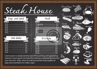 Restaurant-menü auf tafel design-vorlage. wandposter • poster Crepes ...