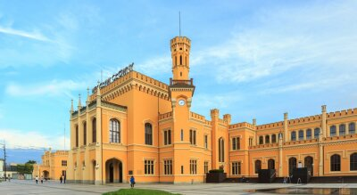 Poster Restaurierte Hauptbahnhof in Wroclaw, Polen