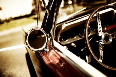Poster retro car fragment