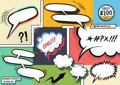 Poster Retro Comic Speech Bubbles