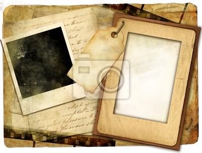Retro-Hintergrund mit Rahmen und alte Briefe