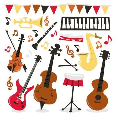 Poster Retro musikalische Partei