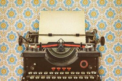Poster Retro Stil Bild einer alten Schreibmaschine