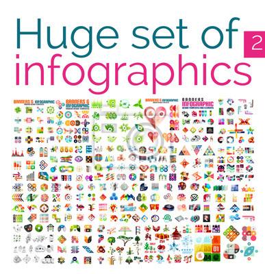 Poster Riesige Mega Satz von Infografik-Vorlagen