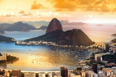 Poster Rio De Janeiro, Brasilien in der Dämmerung
