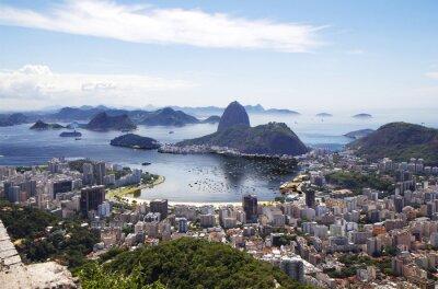 Poster Rio de Janeiro. Gesamtansicht der Stadt.