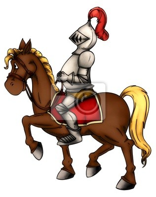 Poster Ritter Reiter Pferd Mittelalter Söldner Rüstung